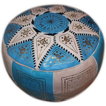Golden Fez Pouf : Moroccan Footstool, Moroccan Pouf, Moroccan ...