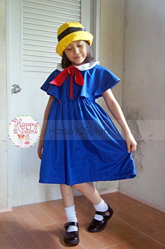 #Madeline #costume #Madeline #dress #Madeline #cape #Girls #halloween #costume  The #madeline #dress created from Cotton material.Best for #Madeline #dress.This checklist inclued Get dressed, #Cape ana Hat.  https://boutiquecloset.com/product/madeline-costume-madeline-dress-madeline-cape-girls-halloween-costume/