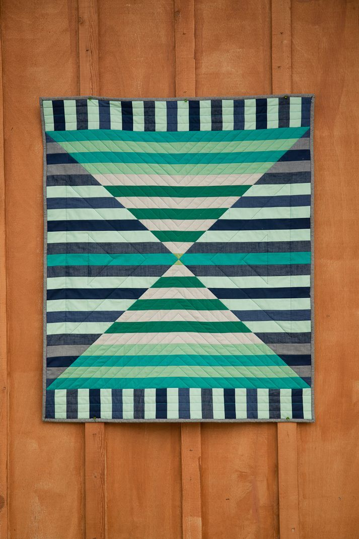 """Beautifully executed """"Barn Door"""" quilt by Michelle Bartholomew."""
