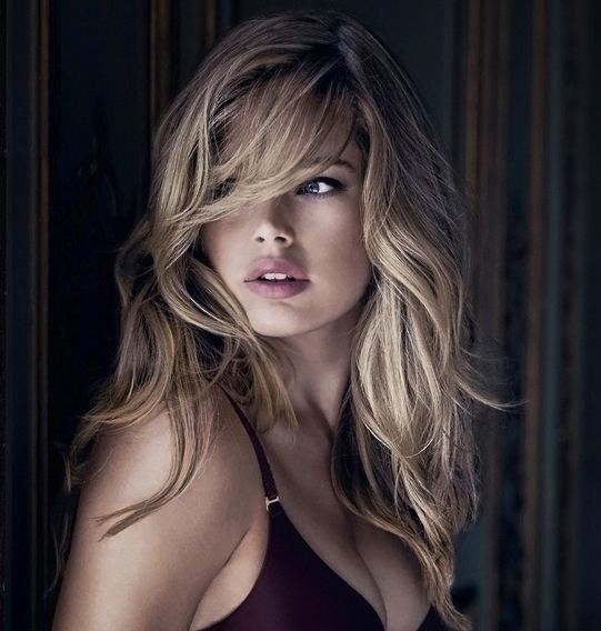 : Hairstyles, Wavy Hairs, Makeup, Messy Hairs, Side Bangs, Blondes Highlights, Hairs Color, Doutzenkro, Doutzen Kroes