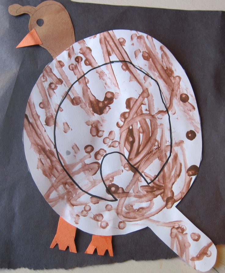 My Father's World K Q is for Quail - quail craft with the letter Q