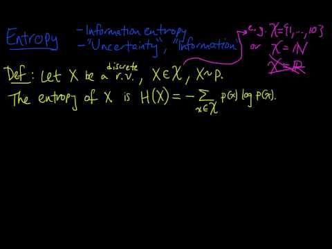 (Info 1.1) Entropy - Definition
