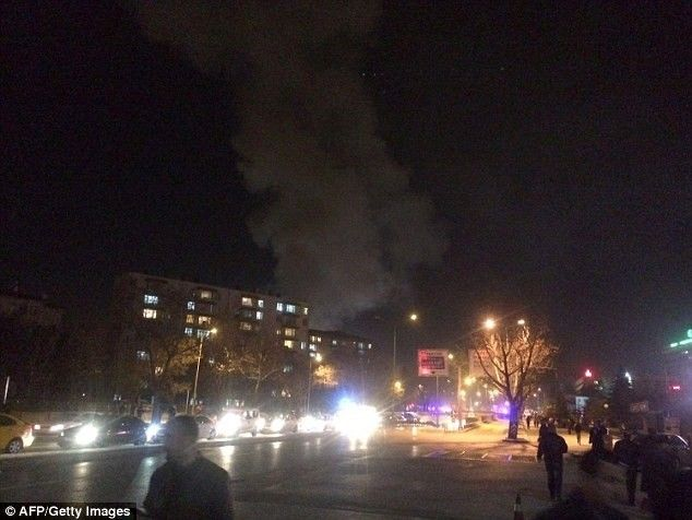 CCTV footage Shows the moment a car bomb exploded in the Turkish capital during rush hour, killing at least 28 people and injuring 61