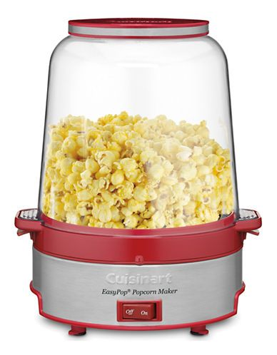 On sale online at the Bay. Popcorn maker that distributes butter and seasoning evenly.