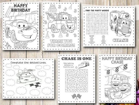 Cars Coloring Pages Cars Birthday Cars Party Cars Disney Etsy Cars Coloring Pages Coloring Pages Cars Birthday