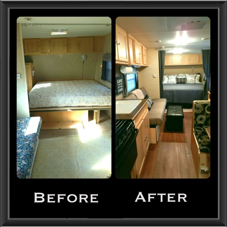 For Sale! Trailer Remodel  New Flooring, Curtains, Bedding, Dinette  Cushions,