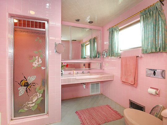 Best 25+ Pink Bathroom Vintage Ideas On Pinterest