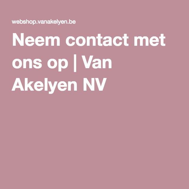 Neem contact met ons op   Van Akelyen NV