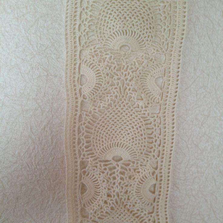 Pineapple lace crochet