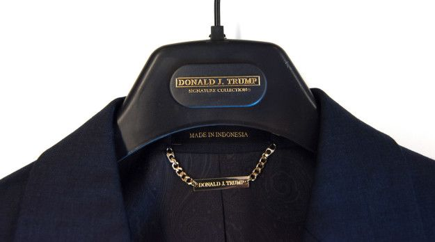 Trump suits made in Indonesia.