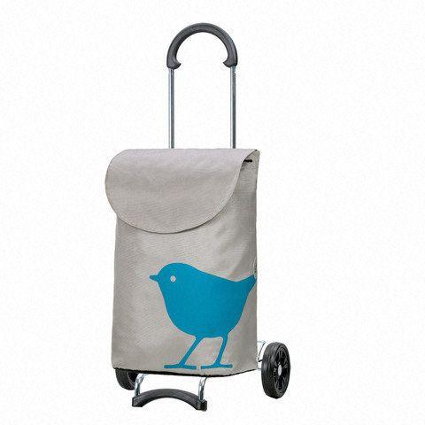 Poussette de marché - 2 roues - Scala Bird - Roue étoile - Turquoise