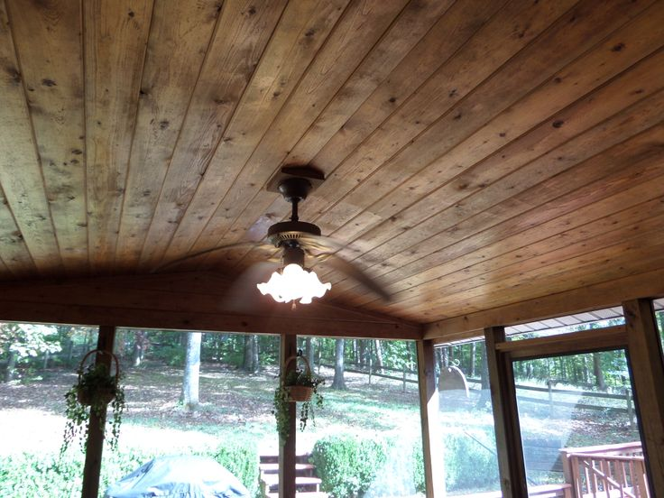 Tongue groove porch ceiling house ideas pinterest for Balcony ceiling