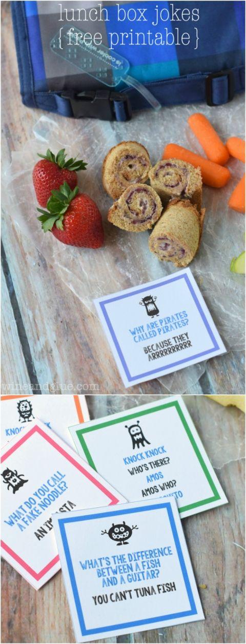 Free Printable Lunch Box Jokes | www.wineandglue.com
