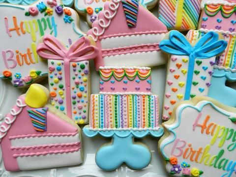 Flour Box Bakery — VIDEO for the cake and how to do the rainbow Happy Birthday. These are LilaLoa cutters!