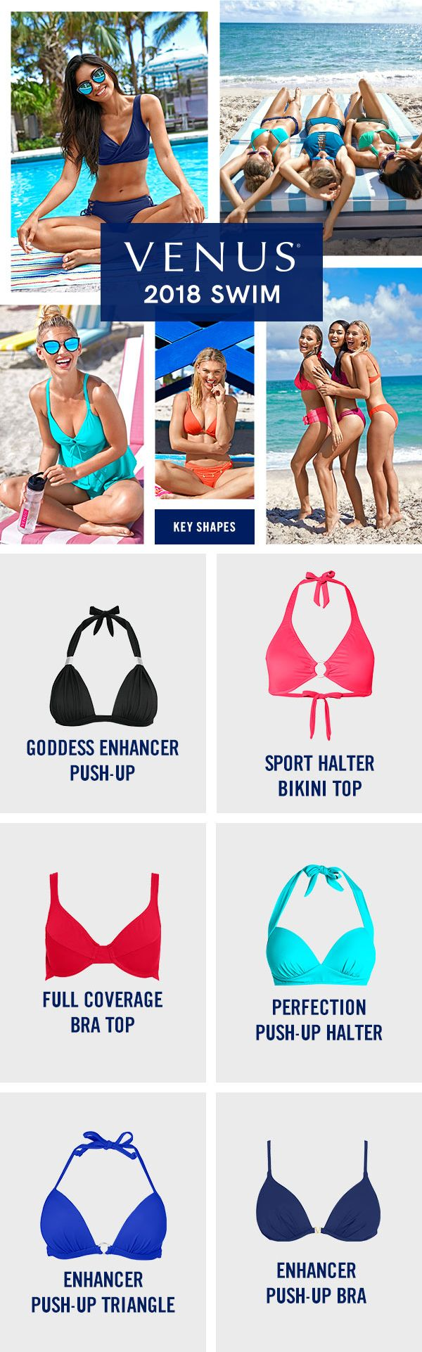 Introducing 2018 swim! Mix and match any of our beautiful colors and suit styles to create your own unique look! #venusswimwear #bikini