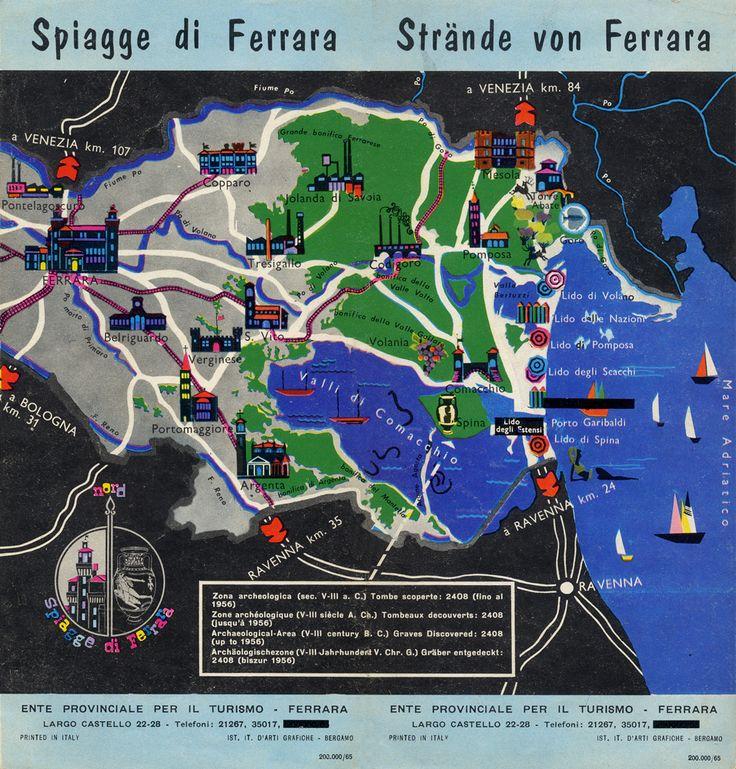 """Depliant """"Spiagge di Ferrara"""", 1965."""