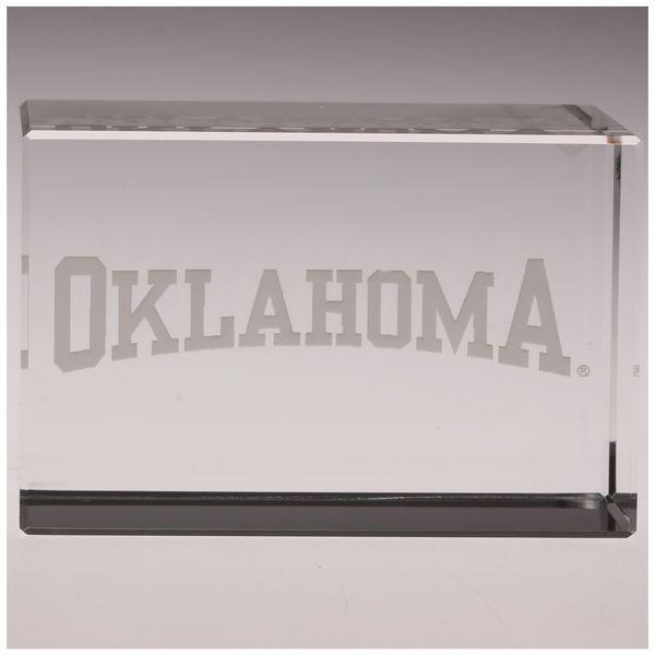 Oklahoma Sooners Crystal Team Name Rectangle - $69.99