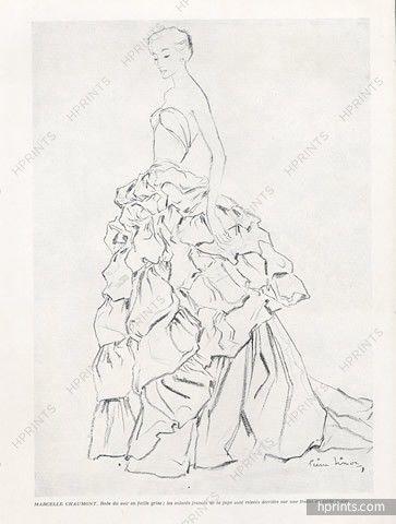 Marcelle Chaumont 1949 Pierre Simon, Evening Gown