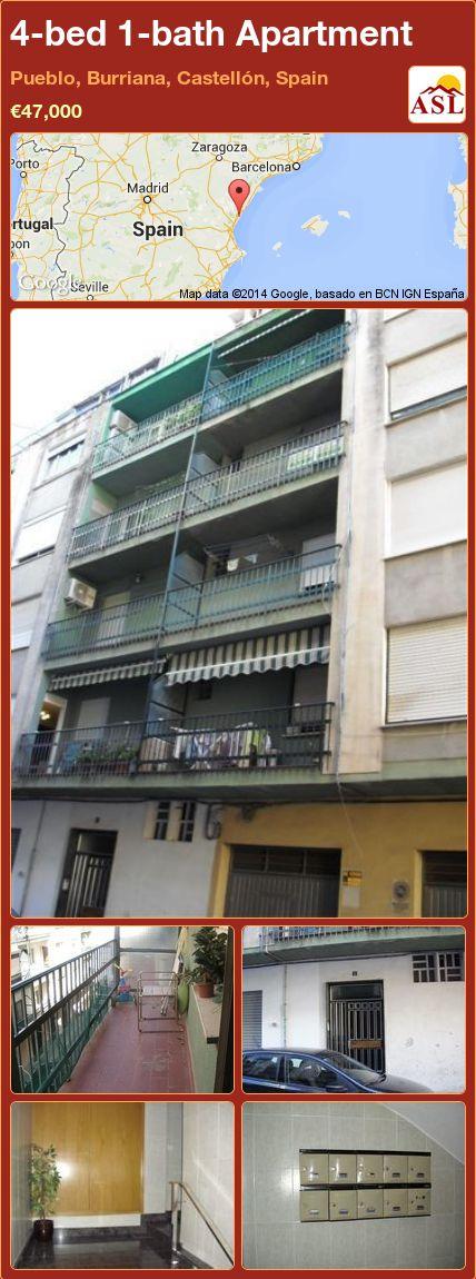 4-bed 1-bath Apartment in Pueblo, Burriana, Castellón, Spain ►€47,000 #PropertyForSaleInSpain