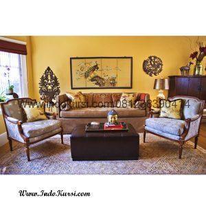 Kursi Sofa Ruang Tamu Tanganan Lengkung