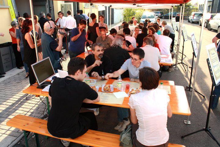 Osteria 2.0 - Prima Edizione, 2010. Il tavolo di Nettamente dove, come sempre, si parla di #Webmarketing e #SEO.