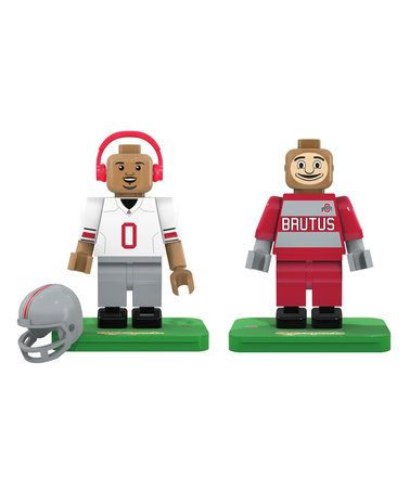 Loving this Ohio State Buckeyes Figurine - Set of Two on #zulily! #zulilyfinds