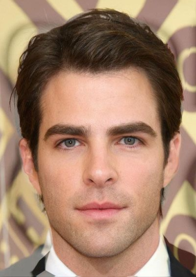 OH SWEET TIME LORDS HAVE MERCY Zachary Quinto and Chris Pine morphed into one super good-looking person. *drops dead*