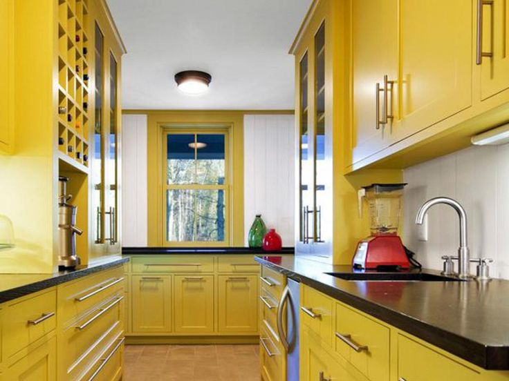 Yellow Kitchen Paint Colors - Rustic Kitchen Decorating Ideas Check more at http://www.entropiads.com/yellow-kitchen-paint-colors/