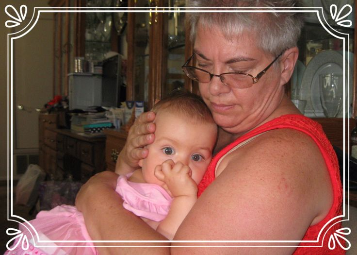 Olivia Resting in Grandma's Arms