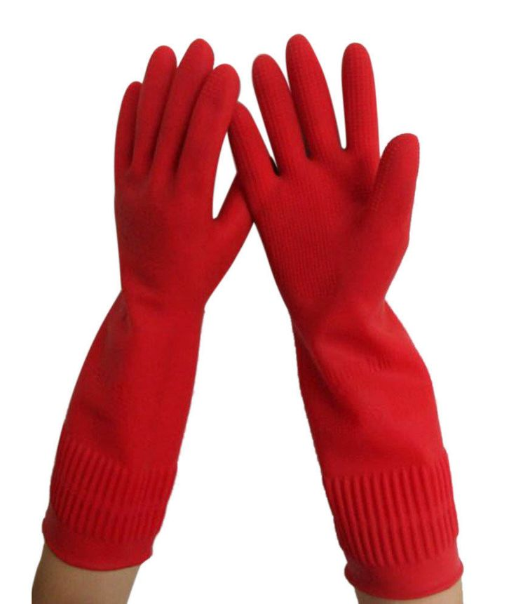"All For You 15"" LONG EXTRA THICK Reusable Household Rubber Gloves/ Latex Gloves #AllForYou"