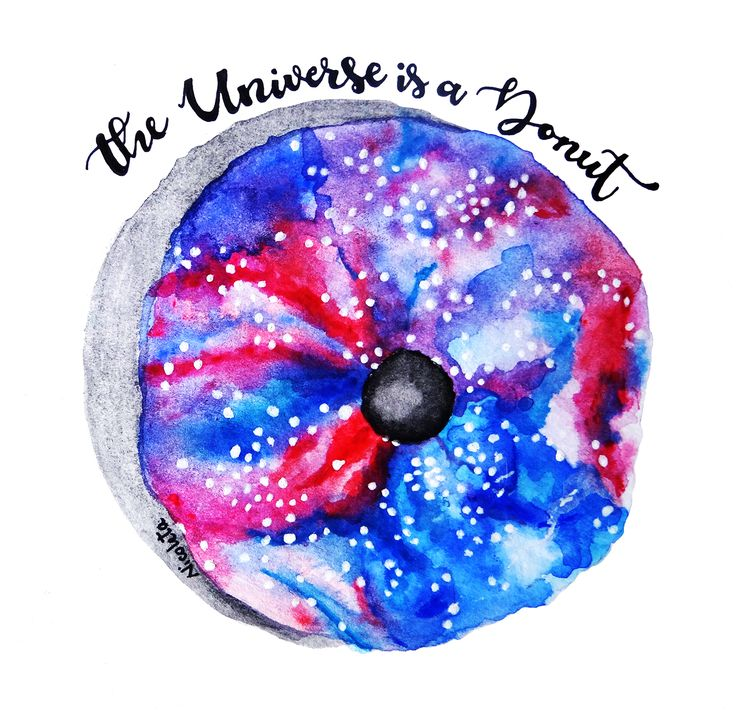 The universe is a Donut, Illustrated by Nicoletaller
