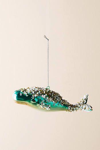 Beaded Beluga Ornament