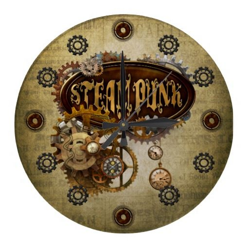 Pin by tina boatman jones on gears cogs pinterest for Steampunk wall clocks for sale