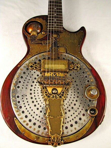 Steampunk custom guitar.
