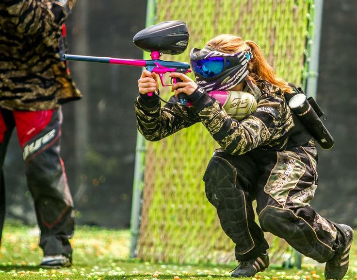 Small but fierce. #paintballgirls