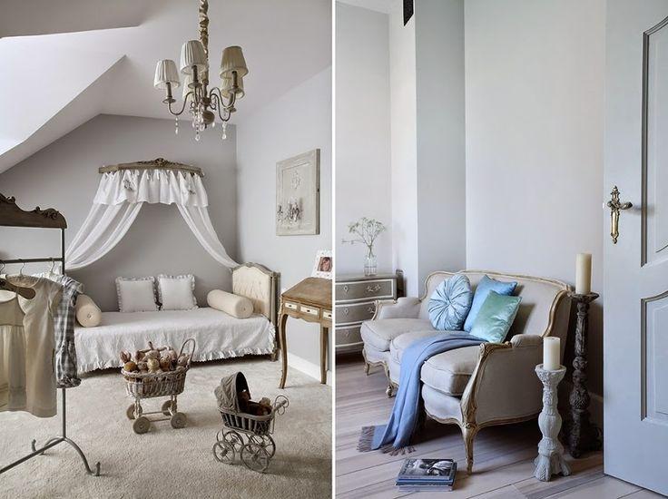 Minty Inspirations   wystrój wnętrz, dodatki i dekoracje do domu, zdjęcia, inspiracje: Szarość we francuskim stylu