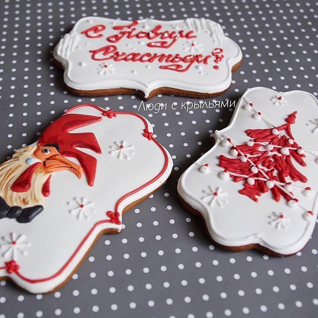 А какой тут петух   Новогодний набор_7 Идет в подарочной упаковке 20*20 см. Каждая печенька 10 см. Цена набора 650 руб.