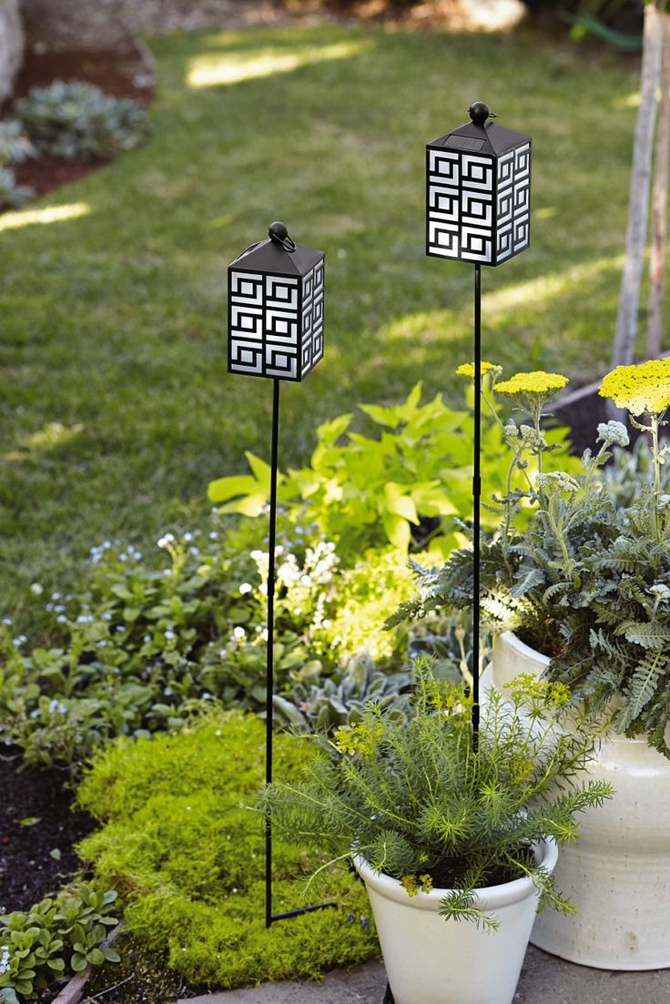 Light up the garden with solar-powered outdoor decor