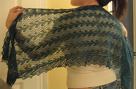 Print O' the Wave Stole by Eunny Jang  See Eunny Knit!: Patternia