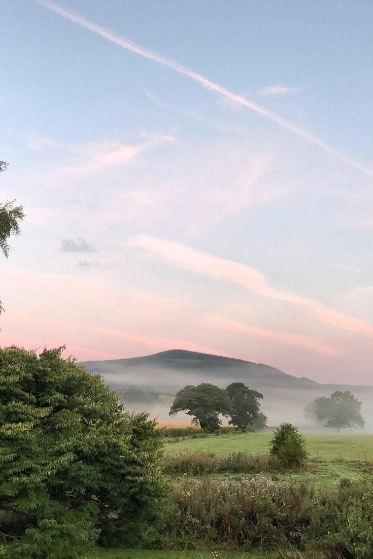 Misty pink dawn | August | Shropshire