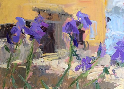 group-eight: Irises, PontriqueOil on panel Auriol Innes