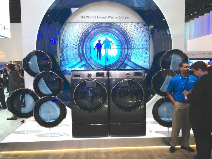 Samsung Washing Machines on display at exhibition