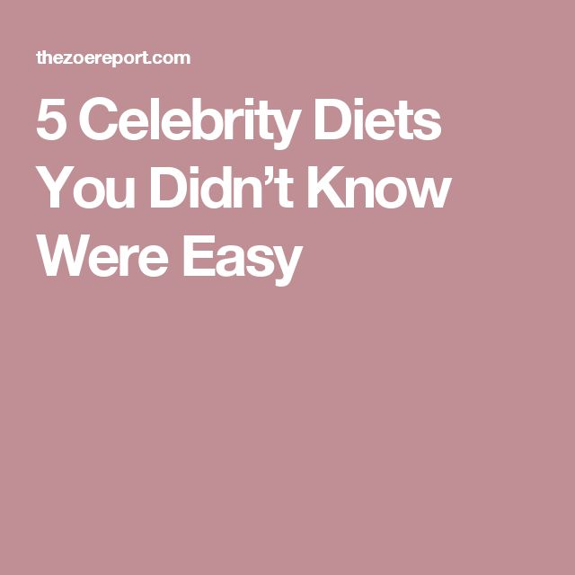 5 Celebrity Diets You Didn't Know Were Easy #Celebritydiets
