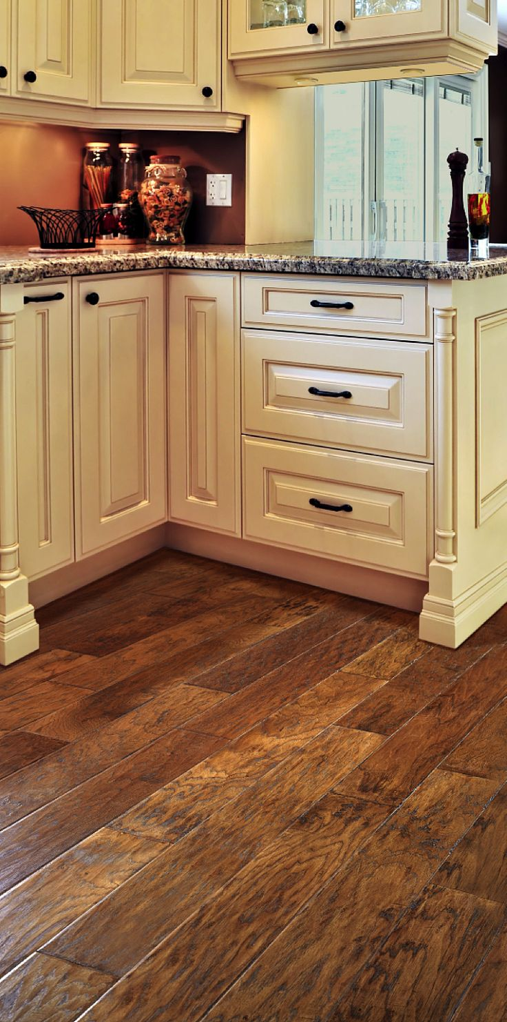 We are using lm flooring hickory stain is called for Floor kitchen cabinets