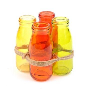 Glass Spice Mini Vase, Set of 4