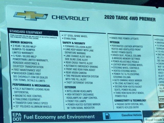 2020 Chevrolet Tahoe Premier Chevrolet Tahoe Chevrolet Trucks For Sale