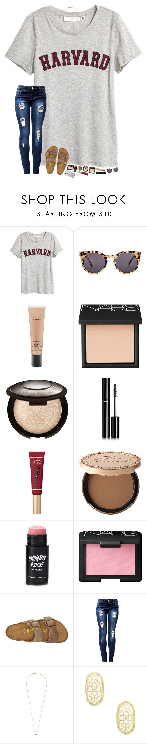 hello exam week! ‍♀️ by hopemarlee ❤ liked on Polyvore featuring Komono, MAC Cosmetics, NARS Cosmetics, Becca, Chanel, Too Faced Cosmetics, Birkenstock, Ginette NY and Kendra Scott