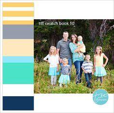 Dica de cores de roupa para fotos de família