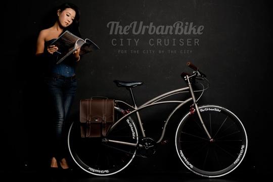 The Urban Bike City Cruiser. Single speed. Titanium. Belt-driven.