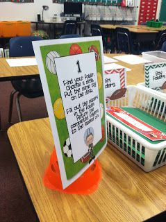 Fun open house ideas! Sports themed classroom!